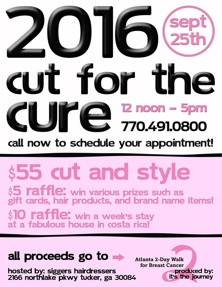 Siggers Cut for the Cure