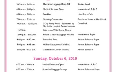 2019 2-Day Walk Weekend Agenda is Here!